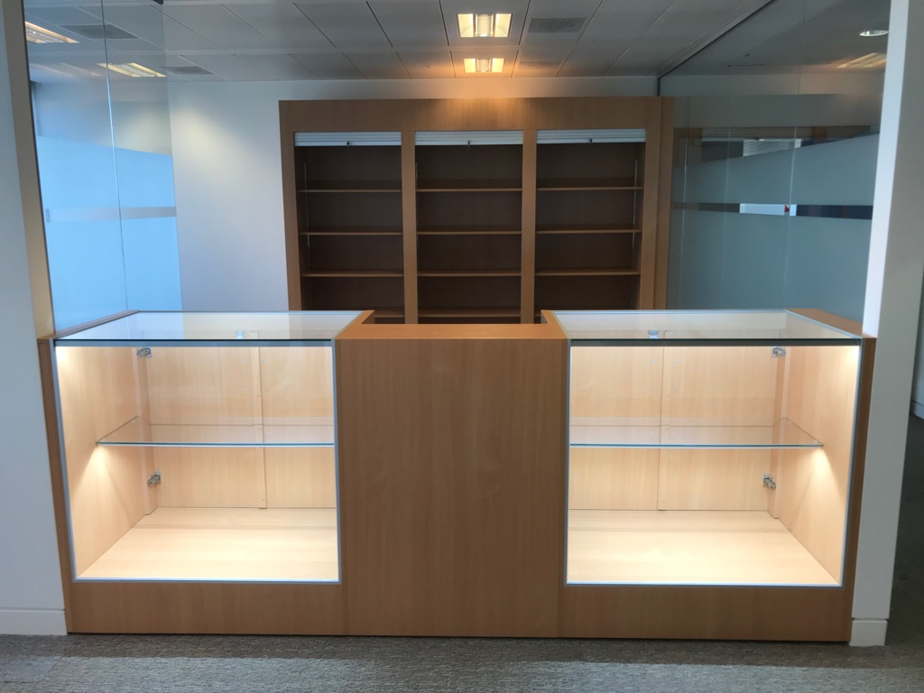 Glass display counters and till unit